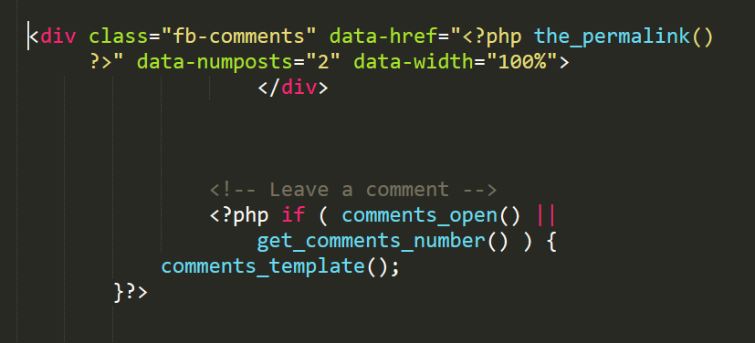 place where code to be added in single.php