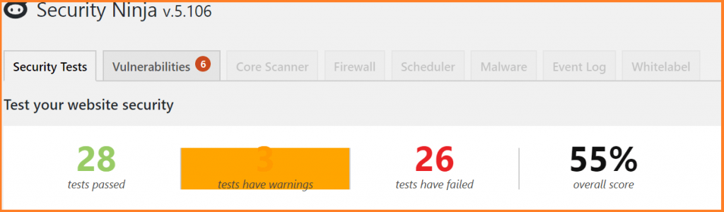 website security test with security ninja